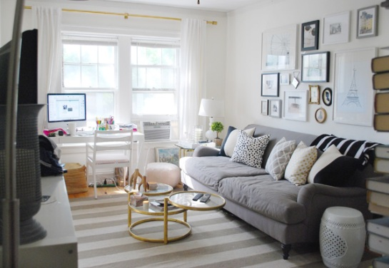 living room inspiration from alaina of live creating yourself and the everygirl