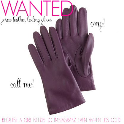 WANTED_JCrew Leather Texting Gloves