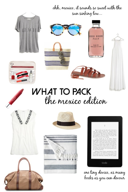 what-to-pack-mexico-beach-vacation