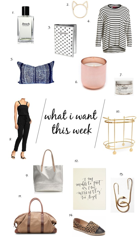 what i want this week shopping list