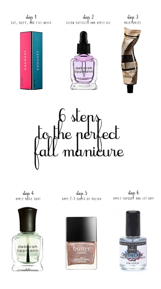 6 steps to the perfect fall manicure
