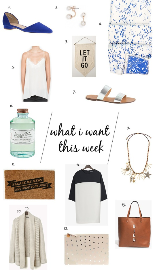 what i want this week