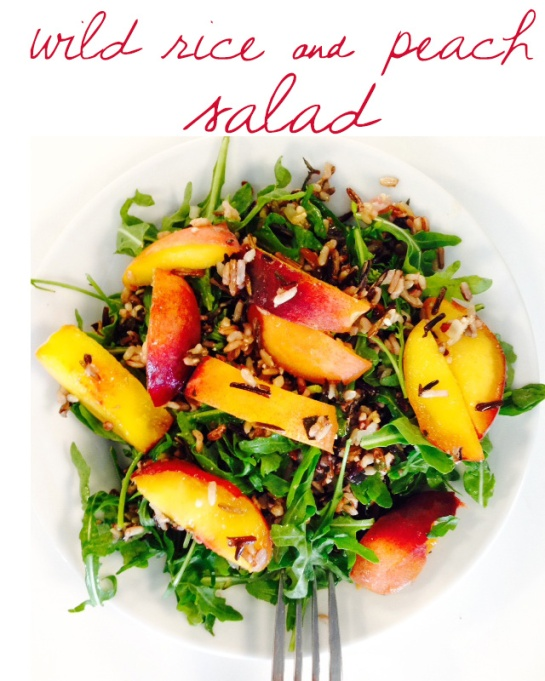 wild rice and peach salad