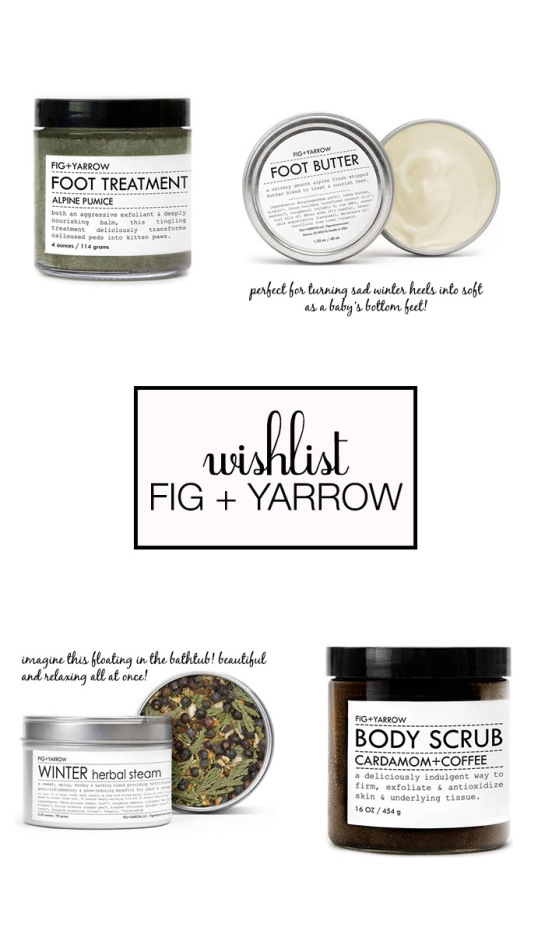 wishlist fig + yarrow